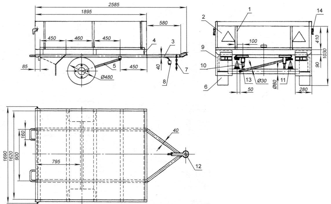 Телега для квадроцикла своими руками чертежи 64